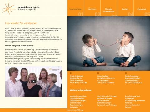 Ganzheitliche Behandlungskonzepte für größtmöglichen Erfolg:Logopädische Praxis Susanne Konopatzki in Rudolstadt