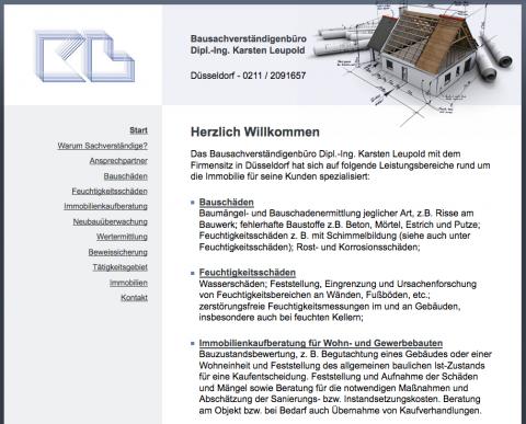 Bausachverständigenbüro Dipl.-Ing. Karsten Leupold in Düsseldorf  Wertermittlung für Immobilien und Grundstücke in Düsseldorf