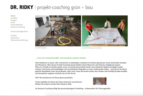 Firmenprofil von: Business-Coach Dr.-Ing. Rolf Ridky in München coacht: