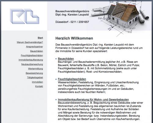 Firmenprofil von: Bausachverständigenbüro Dipl.-Ing. Karsten Leupold in Düsseldorf  Wertermittlung für Immobilien und Grundstücke